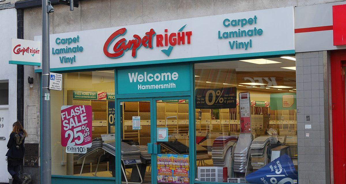 Carpetright sluit in totaal ruim 90 winkels in thuisland