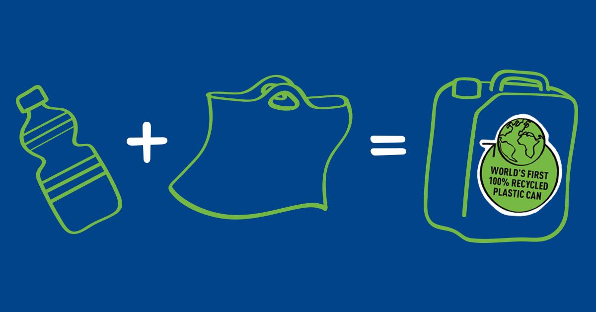 Uzin Utz: can van 100 % gerecycled kunststof