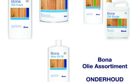 Bona onderhoud van olie assortiment ook aangepast