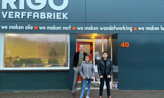 Vandaag twee jonge directeuren bij RIGO Verffabriek