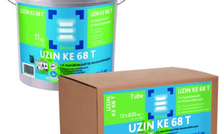 Nieuwe muurvaste lijm van Uzin: KE 68 T