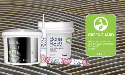 Greenguard Gold certificaat voor Bona silaanlijmen