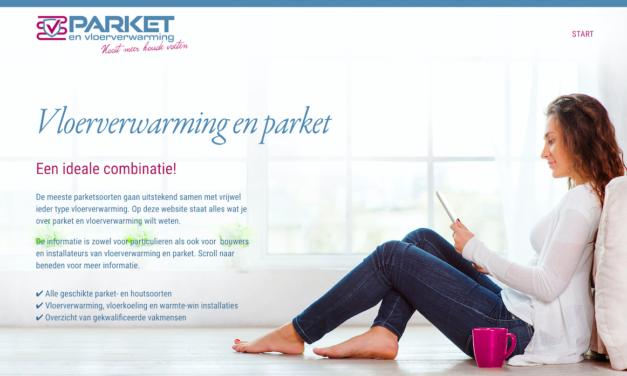 www.vloerverwarmingenparket.nl is live!