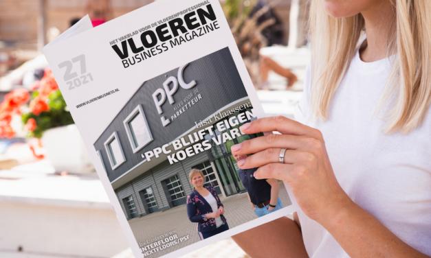 Nieuwste editie Vloeren Business Magazine, met o.a Interfloor en PPC