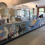Venezia in Openluchtmuseum met Marmoleum balie