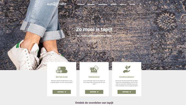 Nieuwe informatiesite over tapijt